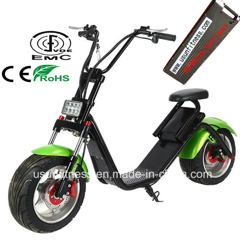 New 1000W Motorcycle Harley Electric Scooter with Remove Battery