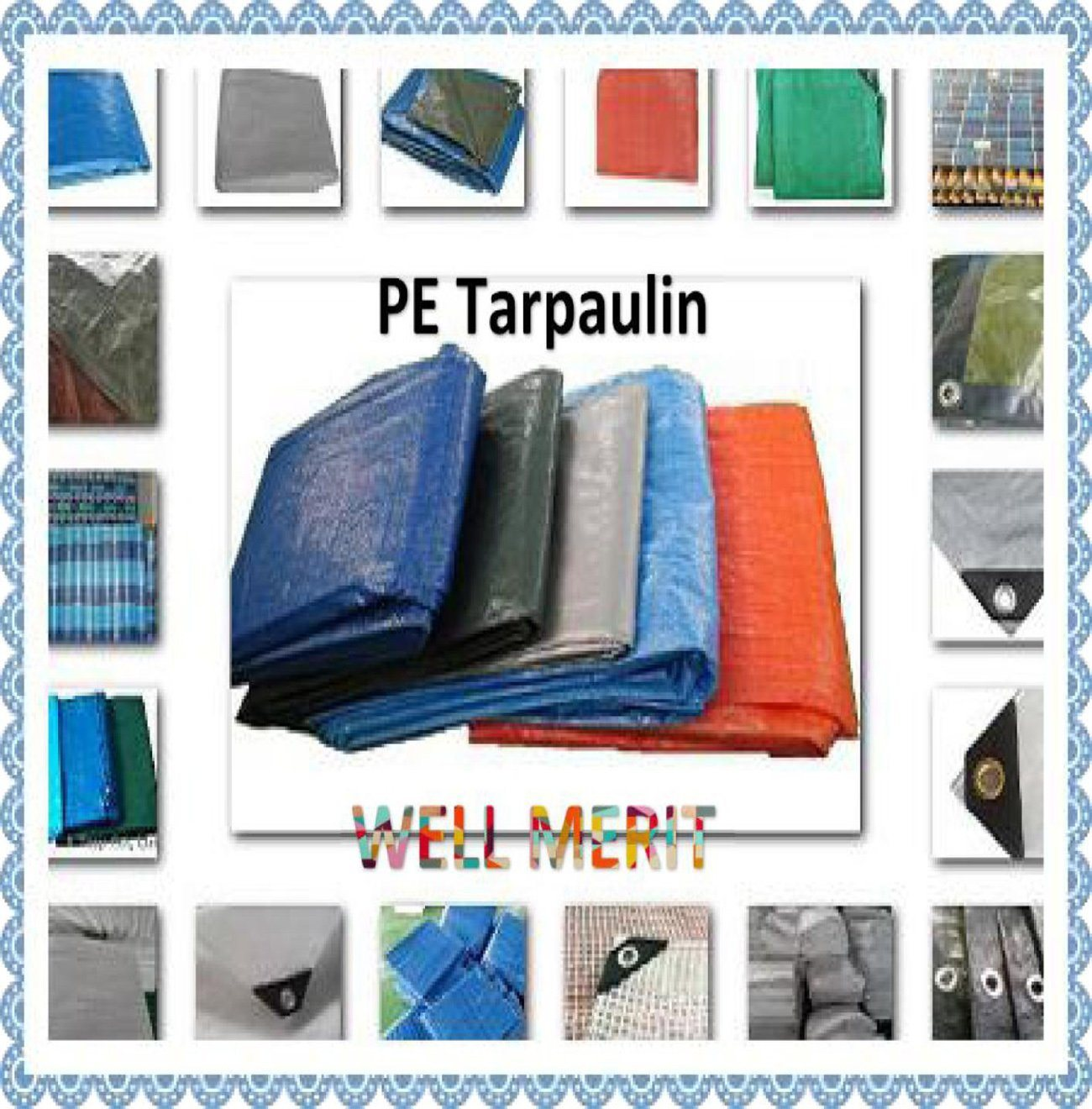 50GSM-300GSM PE Tarpaulin Poly Tarp Plastic Sheet Truck Cover Tarpaulin