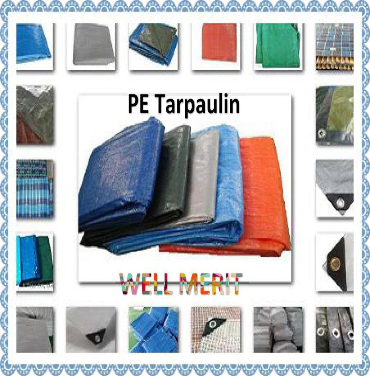 60GSM-300GSM PE Tarpaulin Poly Tarp Plastic Sheet Truck Cover Tarpaulin