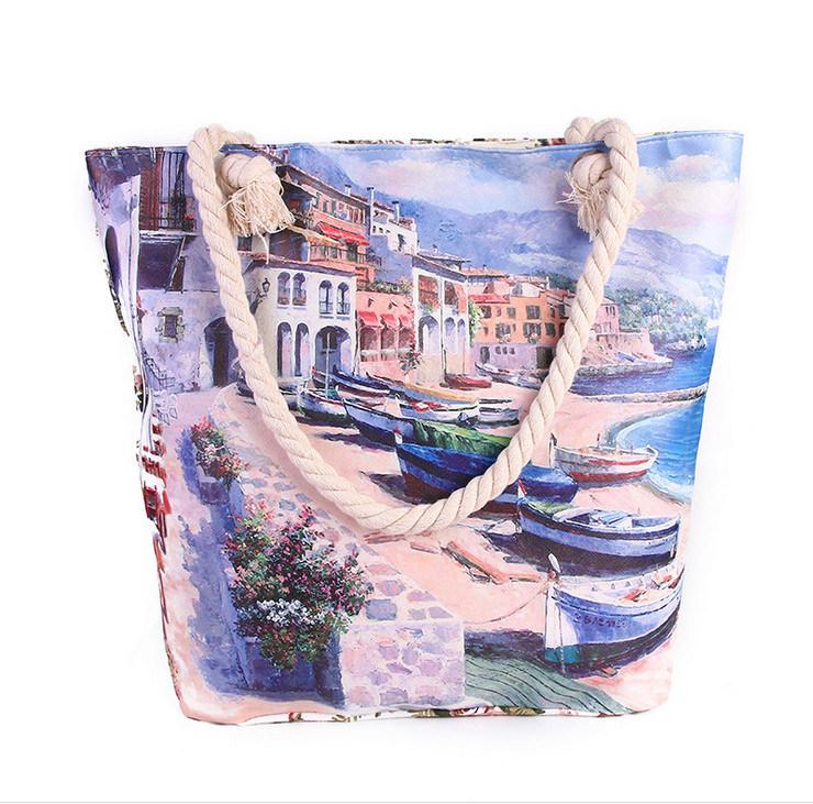 Fashion New Handbags Europe and America Town Fashion Printing Shoulder Bag