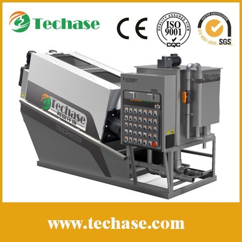 (11.19) Techase Screw Press-Less Noise Than a Centrifugal Dehydrator