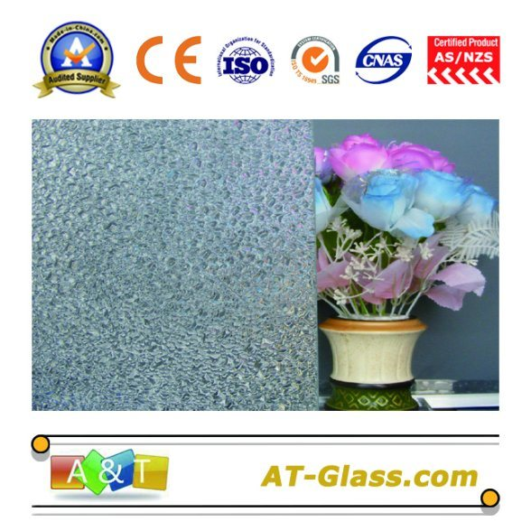 3-8mm Clear Diamond Patterned Glass Used for Window, Furniture, etc