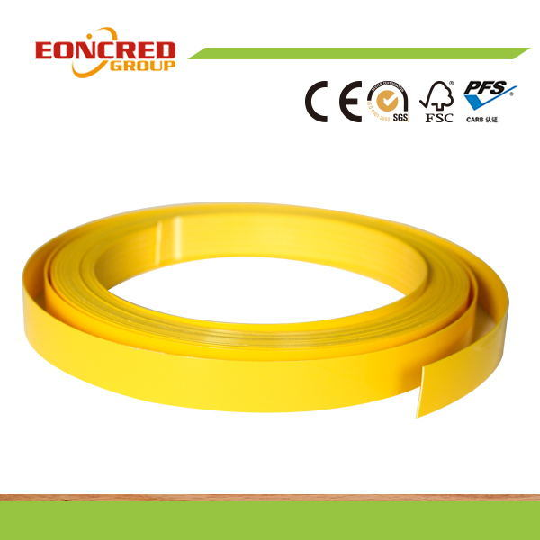High Glossy Solid Color Wood Grain Color PVC Edge Banding