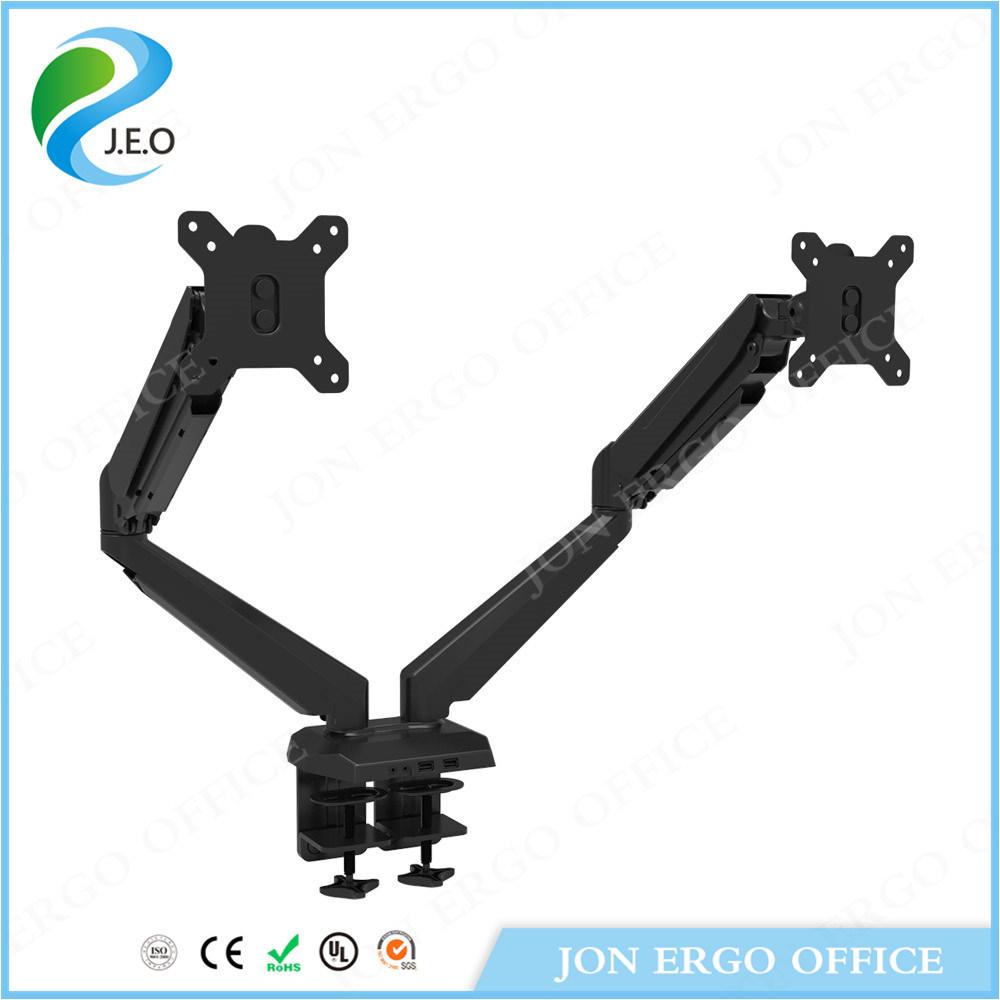 (JN-GM224U) Height Adjustable Computer Monitor Arm Dual Monitor Stand