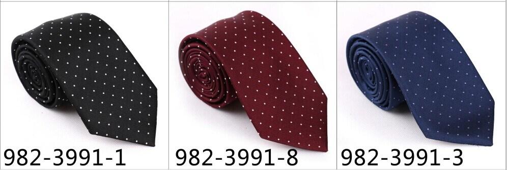 New Design Men′s Fashionable DOT Silk/Polyester Necktie (4027-5)