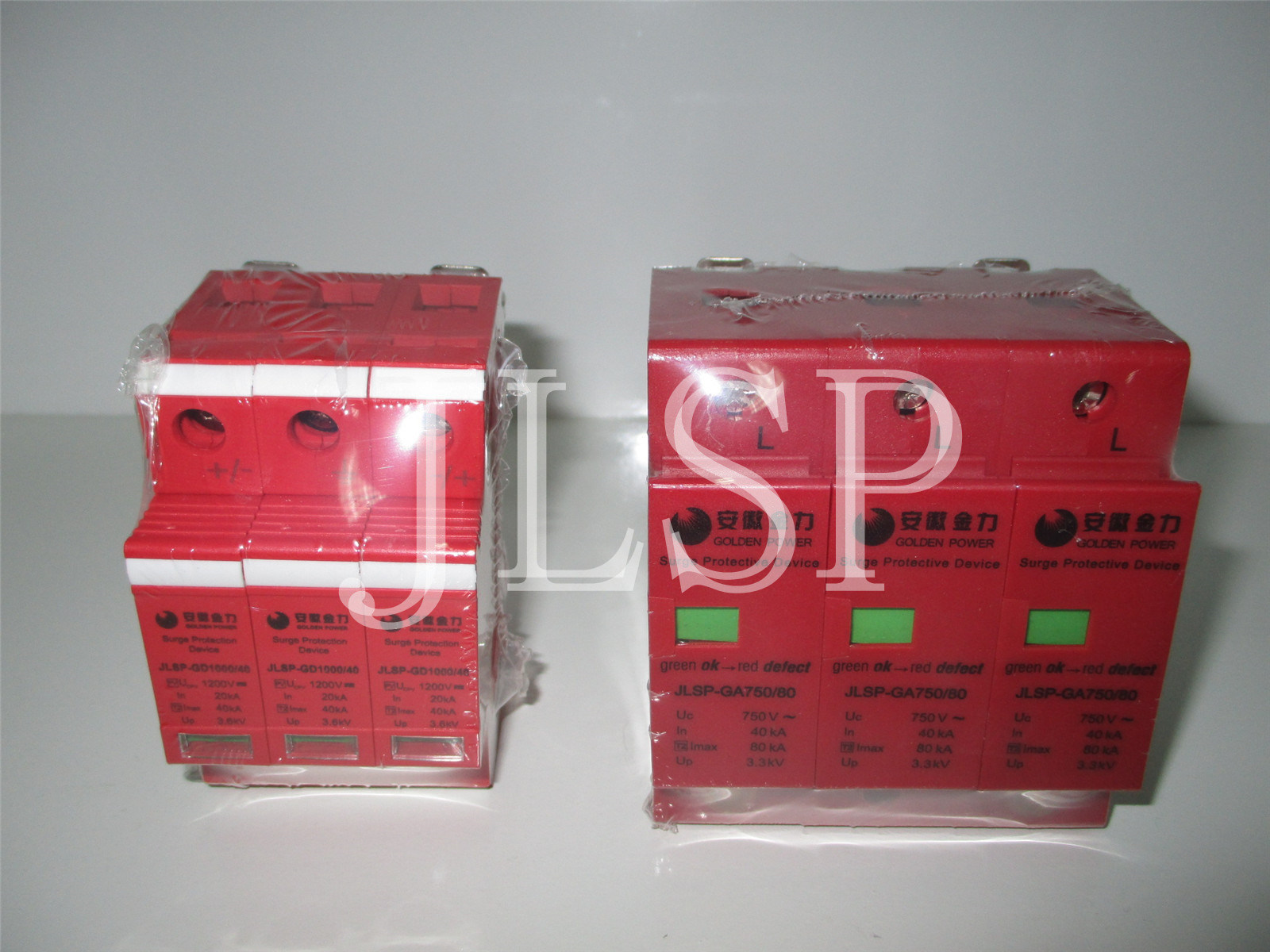 PV Application 20-40ka Solar 3p DC 1000V, Jlsp-Gd1000-40, SPD, Surge Protector, 17007