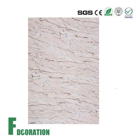Wall Plastic Profile PVC UV Artificial Marble Panel