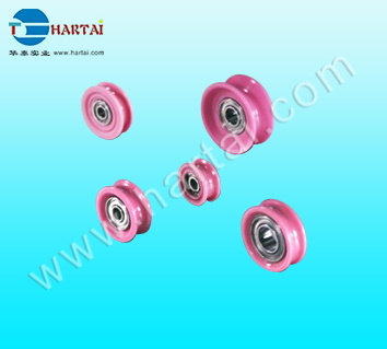 Aluimna Solid Ceramic Wheels Wire Roller Bearing Pulley Guide Roller