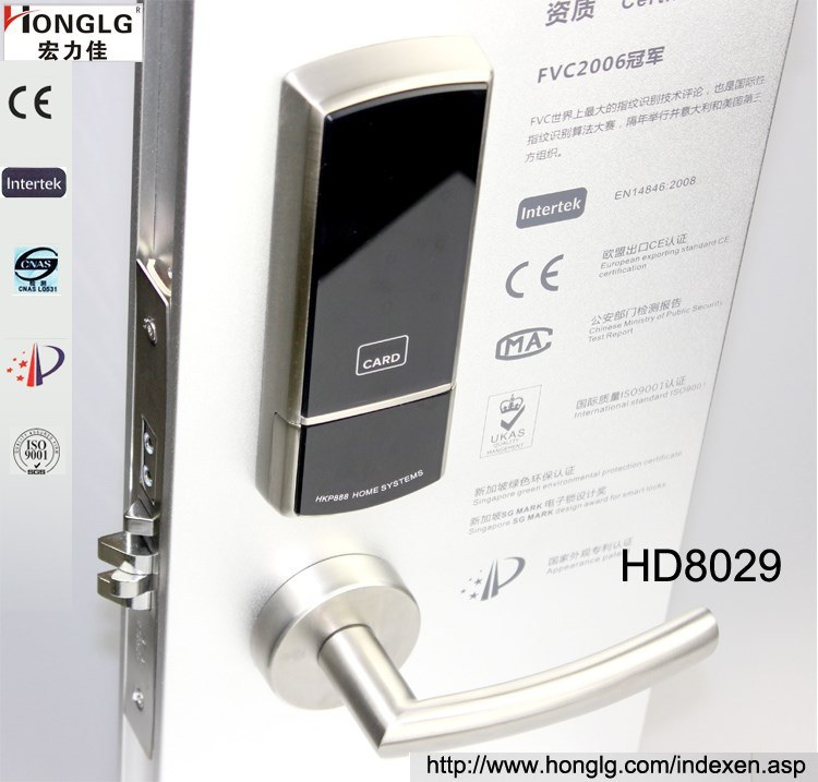 Split 304 Stainless Steel Hotel Card Electronic Lock