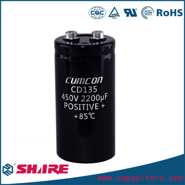 8200UF 350V 450V Screw Terminal, 105c Aluminum Electrolytic Capacitor