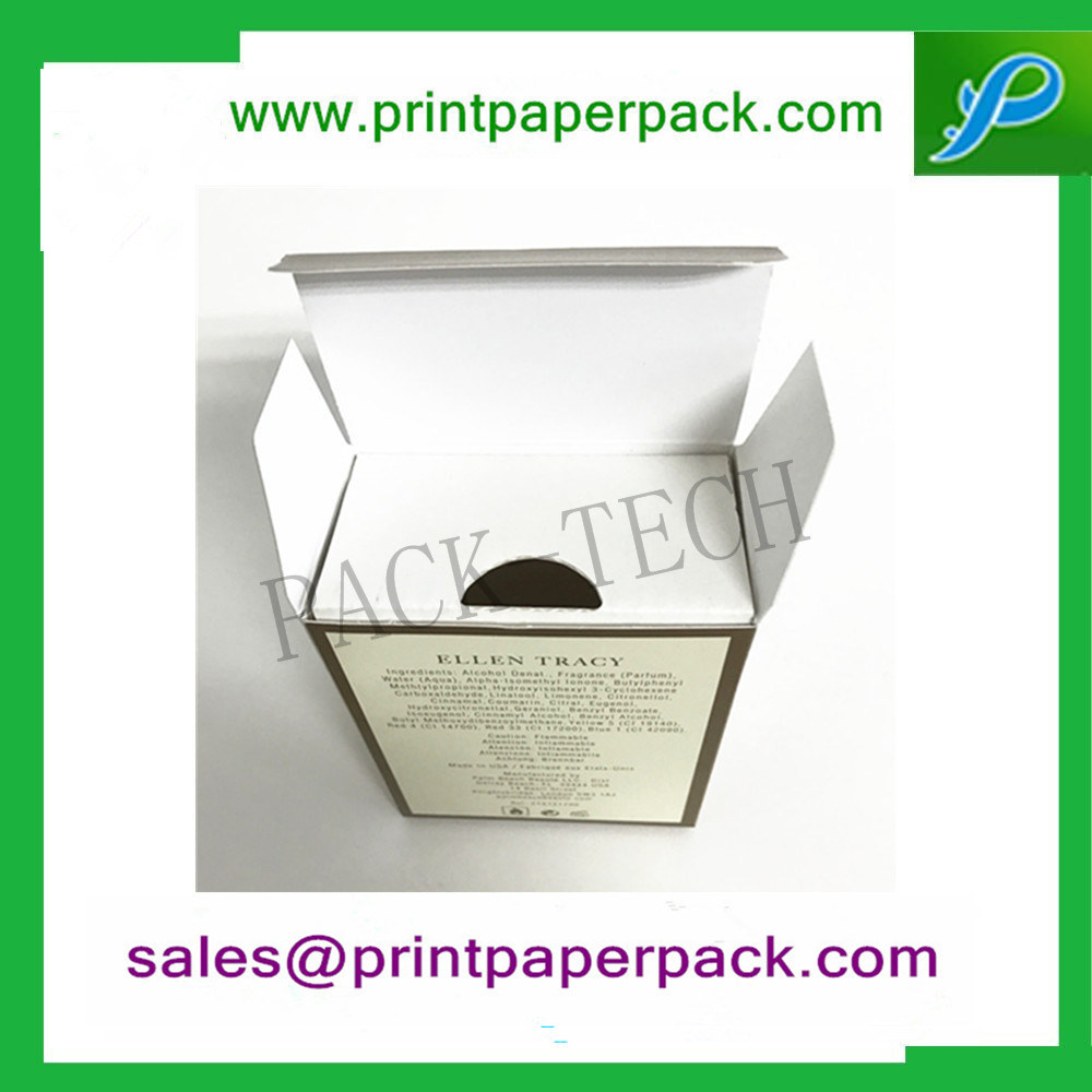 Custom Superior Luxury Paper Gift Folding Box with PVC / Pet / Cardboard Insert for Cosmetic / Perfume / Skincare