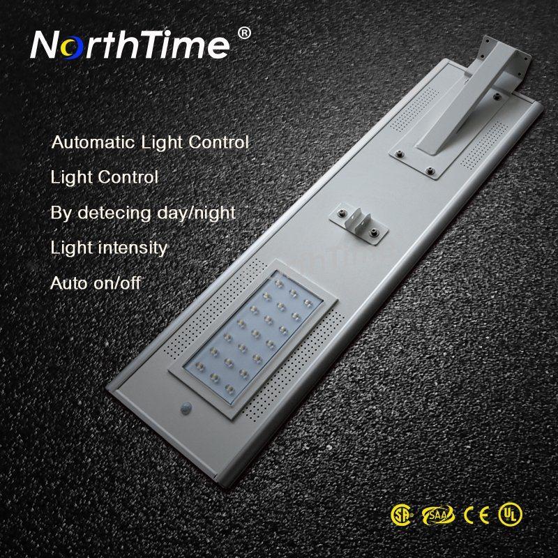 Smart Phone APP Control Integrated Outdoor Solar LED Street Lighting