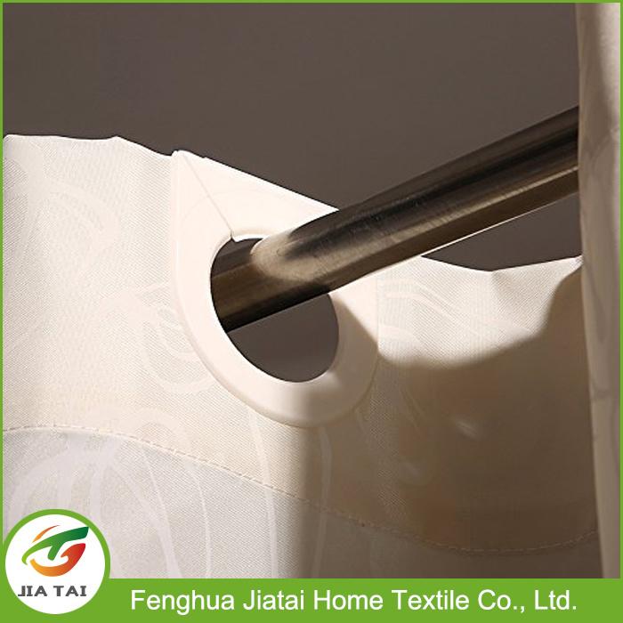 Custom Polyester Modern Hookless Extra Long Shower Curtain