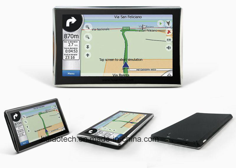 New 7.0inch HD in-Dash Car Portable GPS Navigator Sat Nav Wince GPS Navigation with Tmc Module RS232, AV-in Parking Camera, Bluetooth, Preload GPS Map