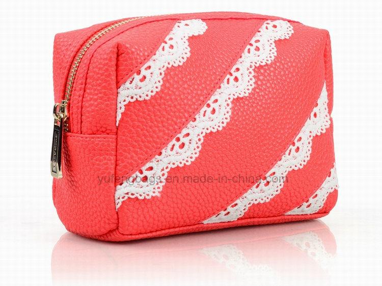 Girl′s Fashion Soft PU Cosmetic Bags, Handbag, Lady Bag, Promotion Bag Yf-CB1603