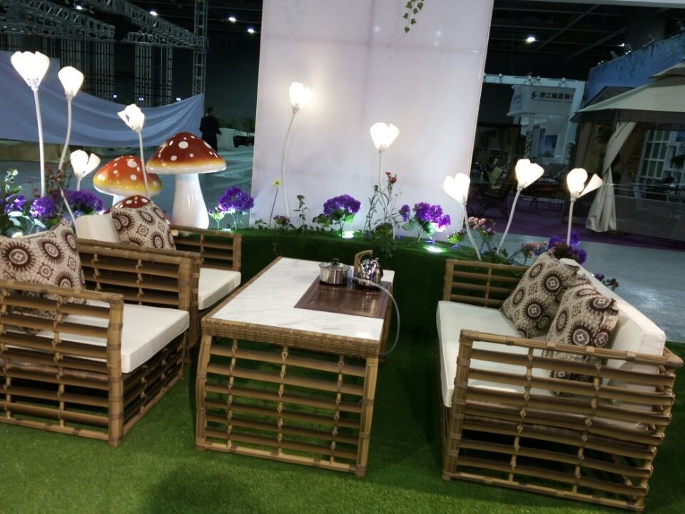 Outdoor Patio PE Rattan Wicker Restaurant Sofa Seat Patio Rattan Furniture Sets