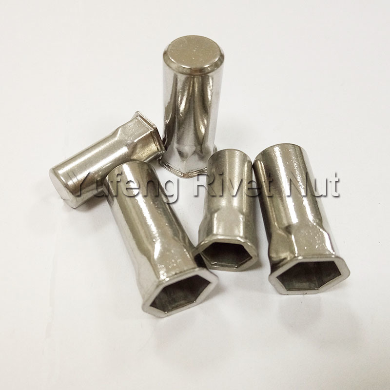 Stainless Steel Small Head Inside & Outside Hexagon Rivet Nut with Closed End