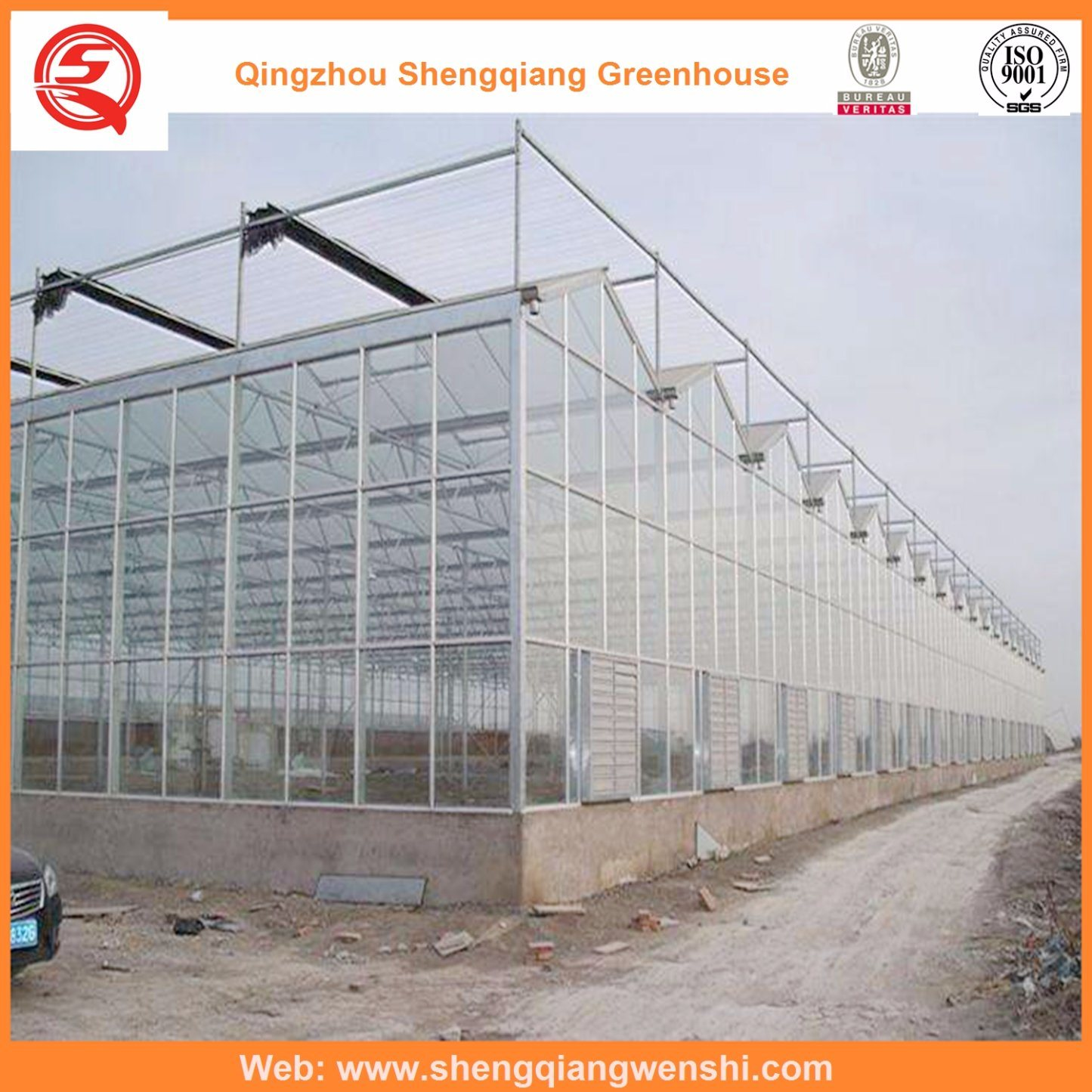 Agriculture Multi Span PC Sheet Greenhouse for Planting
