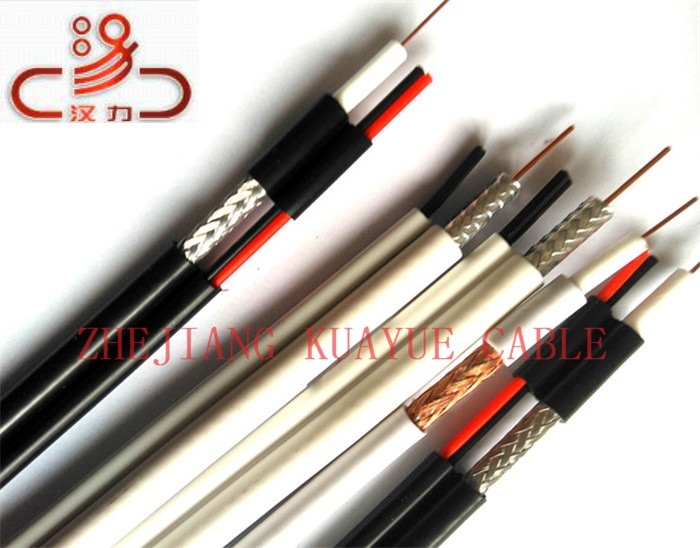 Rg59 Coaxial+2c Power Cable/Computer Cable/ Data Cable/ Communication Cable/ Connector/ Audio Cable