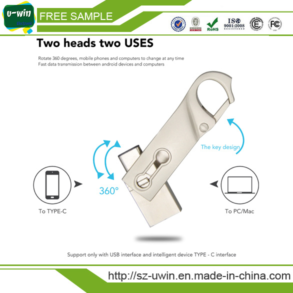 Free Samples Type-C Flash Drive USB 8GB with Customs Logo