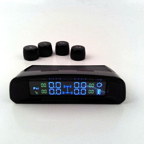 4 External Sensors DIY Solar Car TPMS LCD Tyre Pressure Monitoring System
