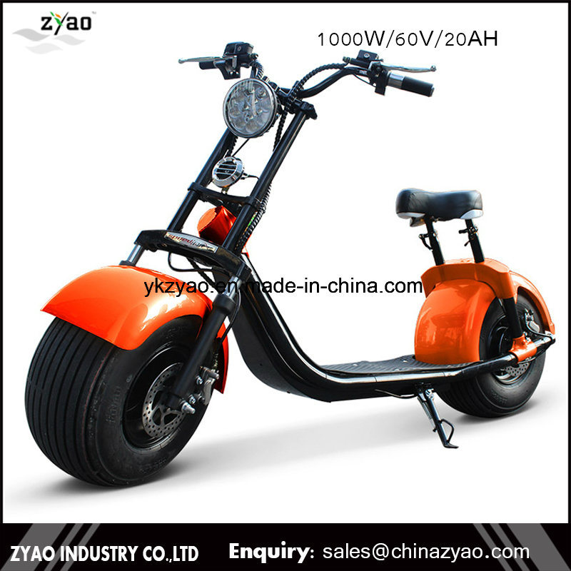 2017 Popular Scooser Style Electric Scooter with Big Wheels Fashion City Scooter Citycoco
