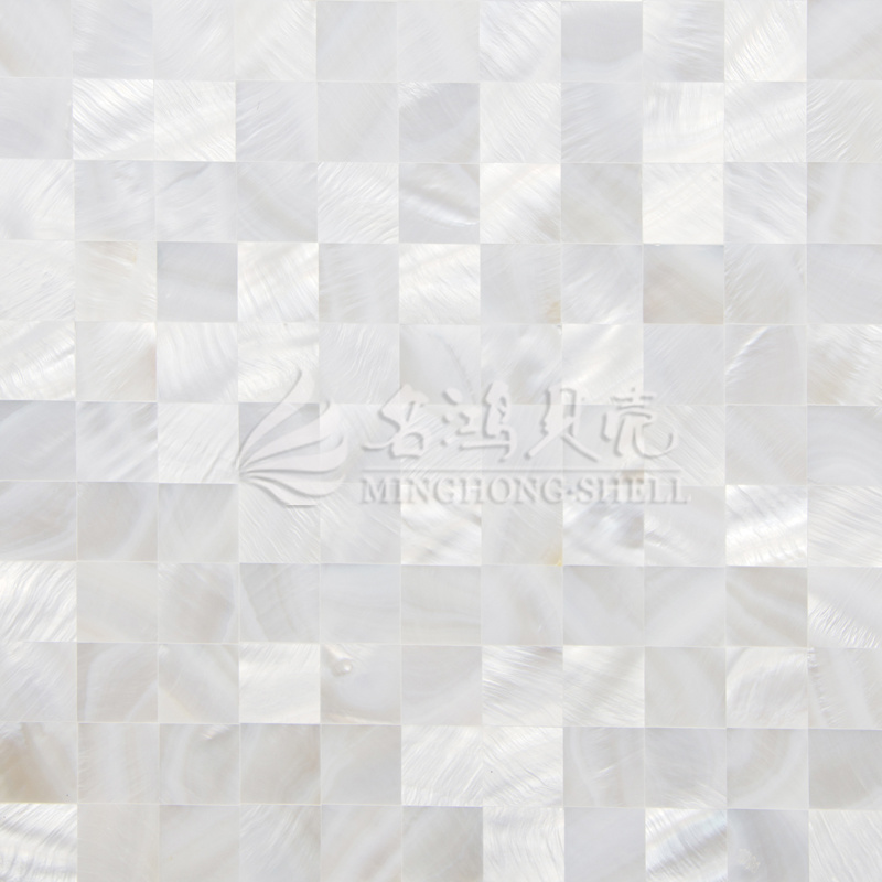 Freshwater Shell Mother Pearl Pure White Square Mosaic Tile