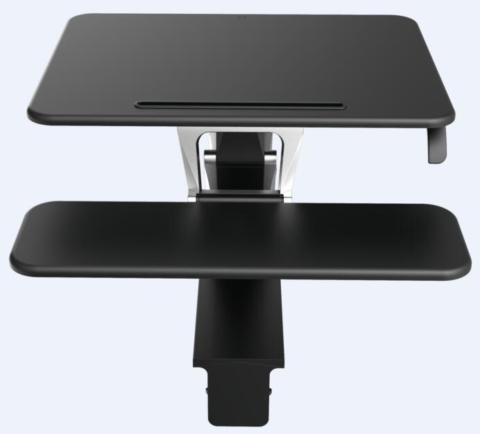 """Loctek 26"""" Wide Platform Height Adjustable Standing Desk Riser, Sit-Stand Workstation, Black (MT103S)"""