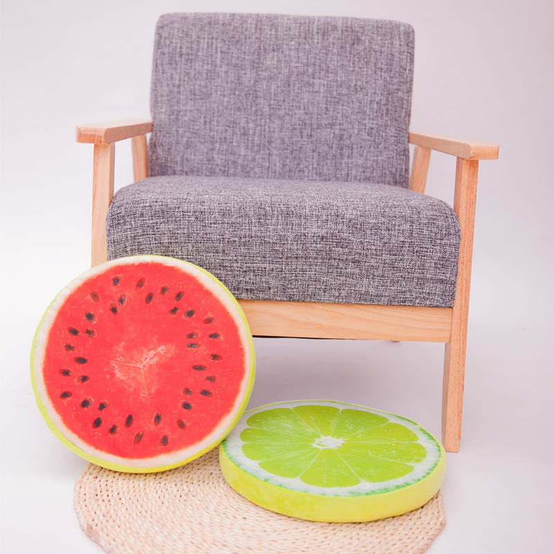 Fruit Style Round Throw Decorative Pillow