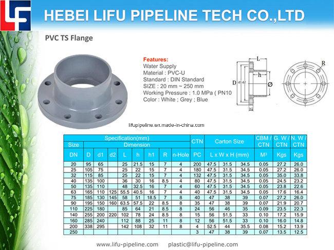 PVC-U Flange for Plastic Valve