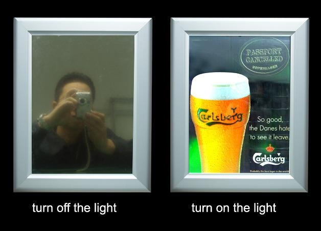 Magic Mirror with Single Sided Backlit LED Llight Box