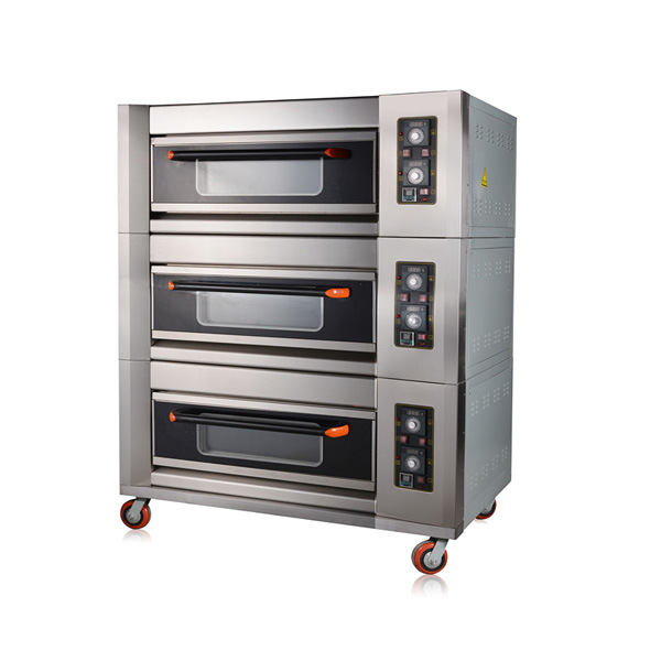 3 Deck 6 Trays Commercial Electric Oven Kitchen Bakery Equipment
