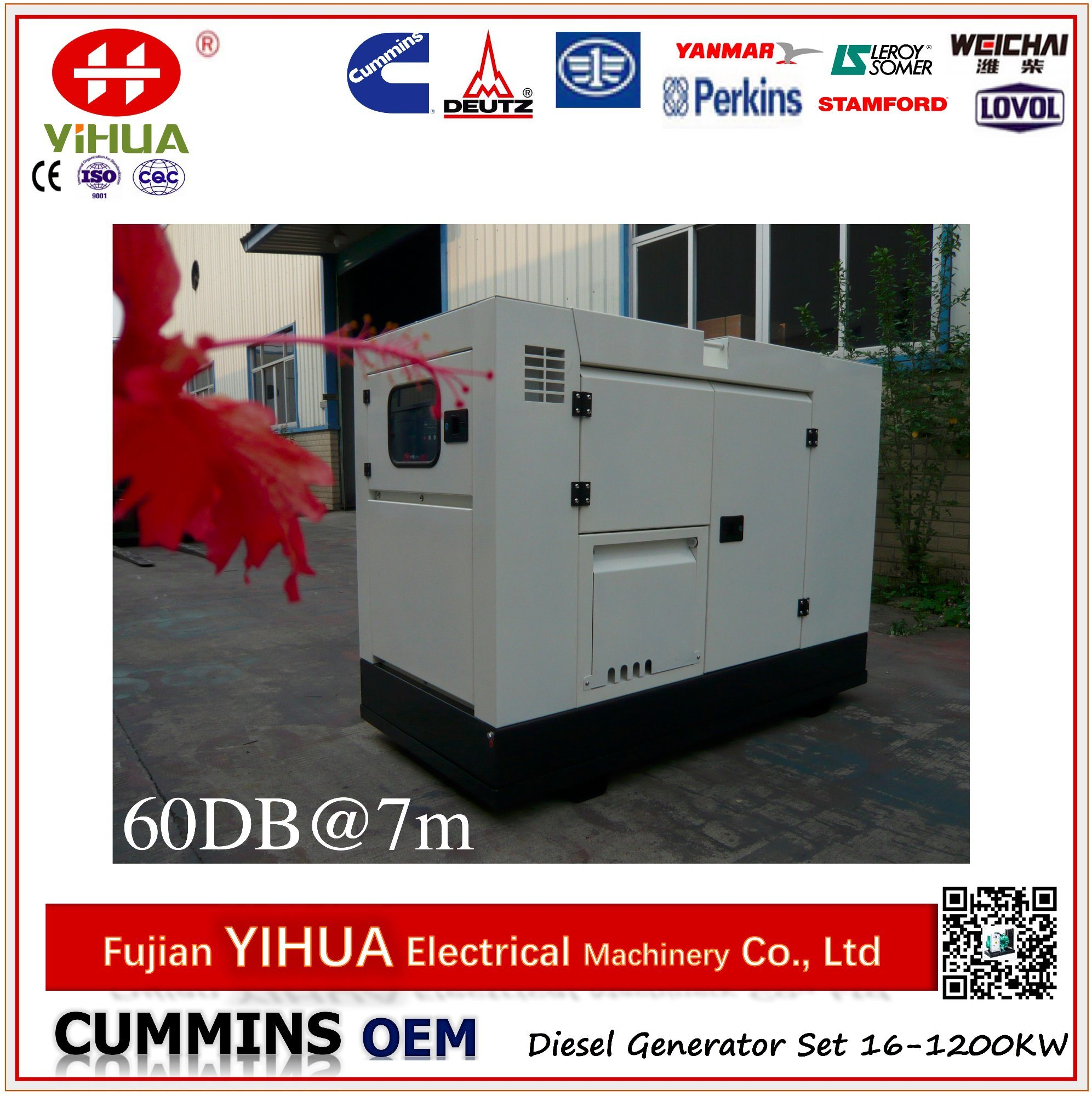 China Super Silent Cummins Power Generator Set for Home Use 16