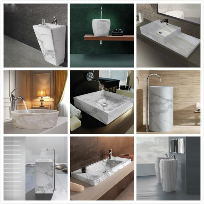 New Italian Bathroom Marble Sink Washing Basin