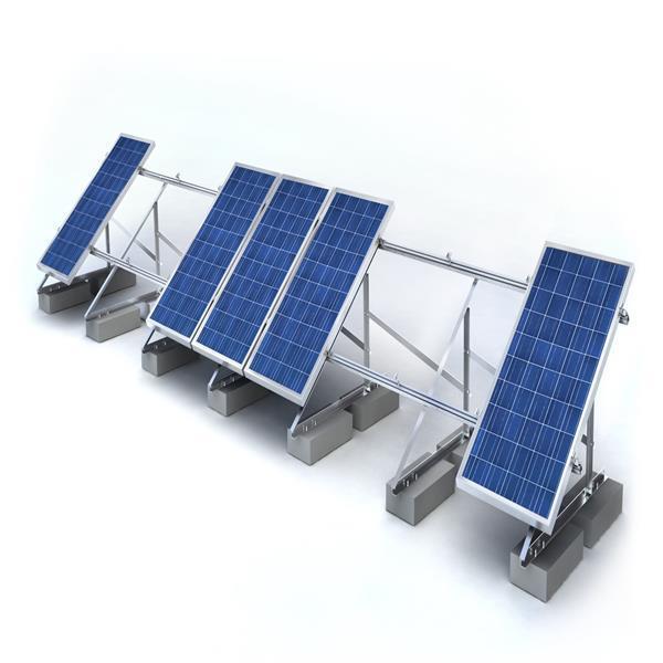 Durable Flat Roof Anodized Aluminum Solar Rack