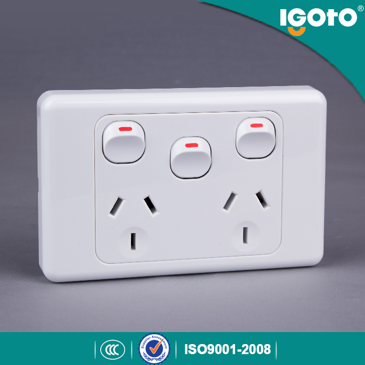 10A Double Power Point with Extra Switch