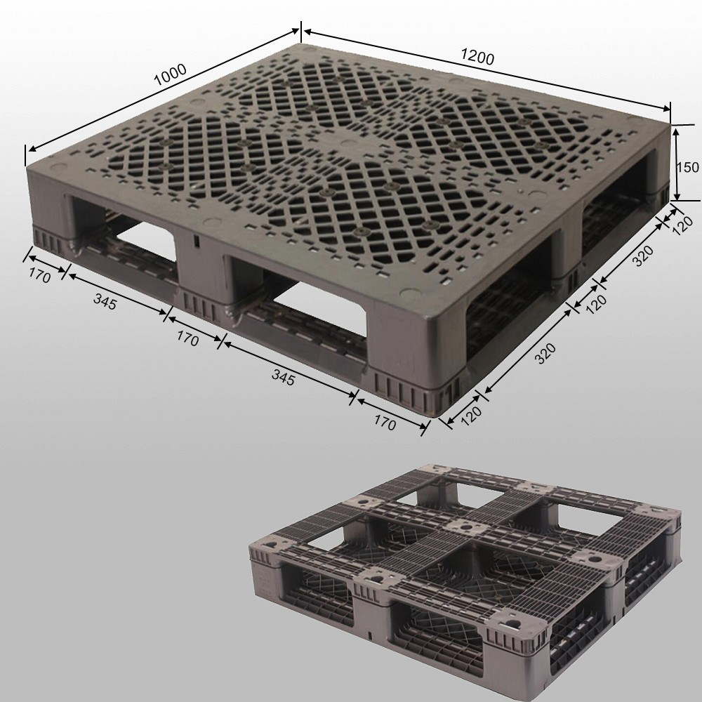 1210 High Quality Cheap Plastic Pallets Plastic Tray Supplier Manufacture