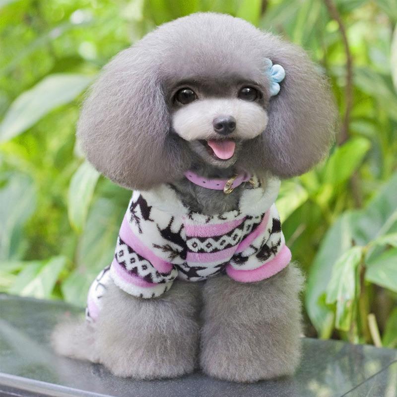 Snowflake Pattern Pet Warm Sweater, Fashion Design Dog Clothing