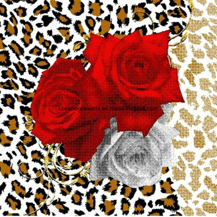 100%Polyester Leopard Rose Series Pigment&Disperse Printed Fabric for Bedding Set