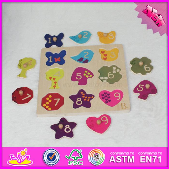 2017 Wholesale Baby Wooden Custom Shape Puzzle, Funny Kids Wooden Custom Shape Puzzle, Wooden Custom Shape Puzzle W14m115