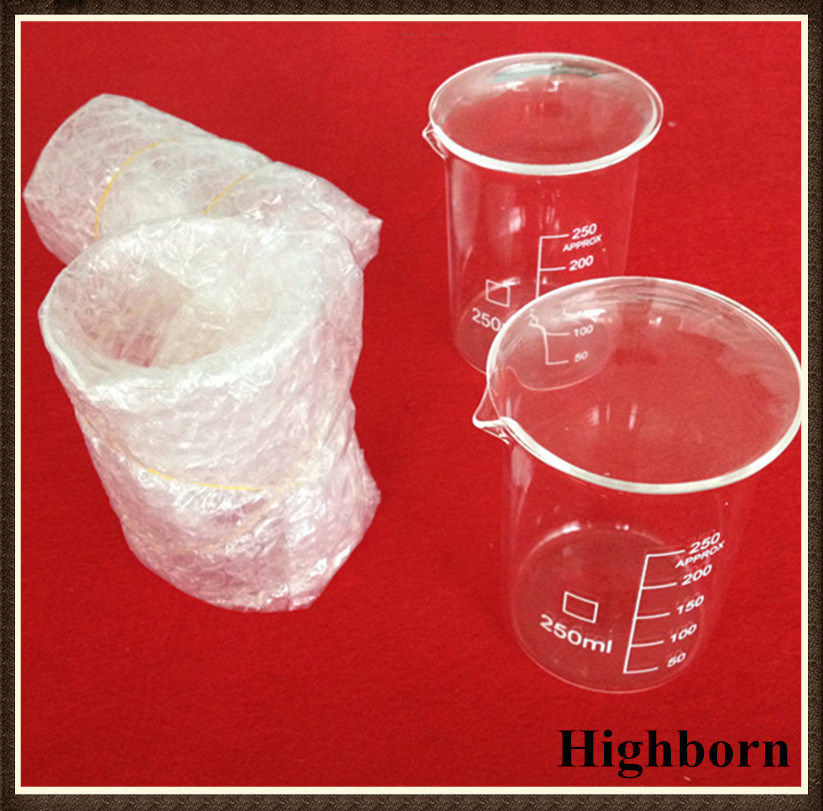 Low Form Quartz Glass Measuring Beaker with Graduation