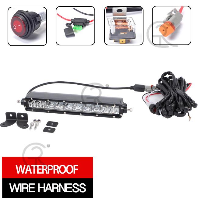 Slim Light Bar LED CREE (10inch, 50W, Waterproof IP68)