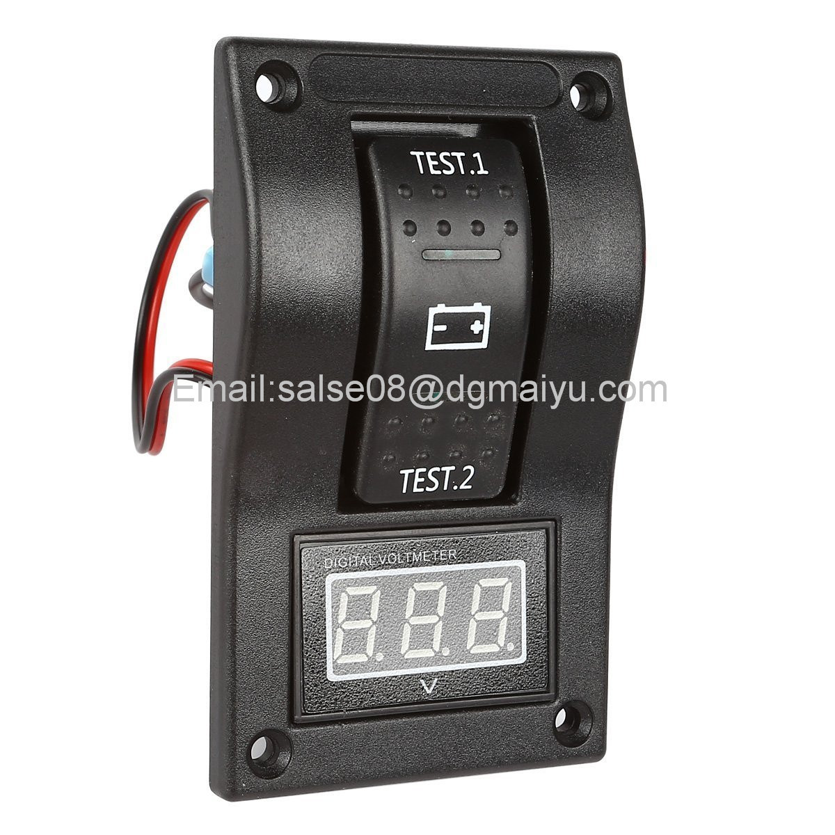 Voltmeter Battery Test Panel Rocker Switch Dpdt/on-off-on for Marine Boat RV ATV 5-30V DC