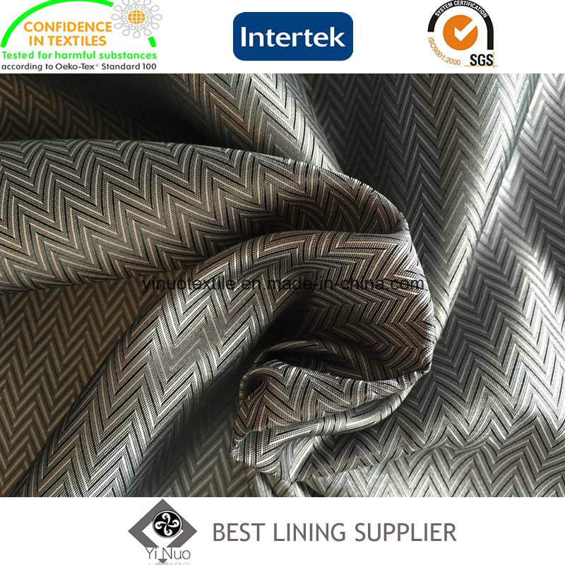100 Polyester Men′s Jacket Lining Fabric Mini-Jacquard Lining