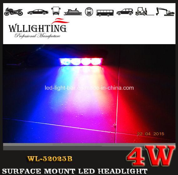 LED Lighthead Grille Light, Surface Mounted LED Headlight for Car and Truck Wl-52025b (LED-LIGHT-BAR 4W)