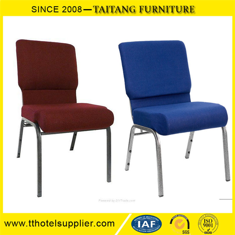 Model Strong Cheap Iron Hotel Chair Church Lobby Furniture Chair