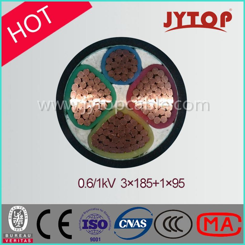Low Voltage 3+1 Multi Core Copper XLPE Insulated Power Cable