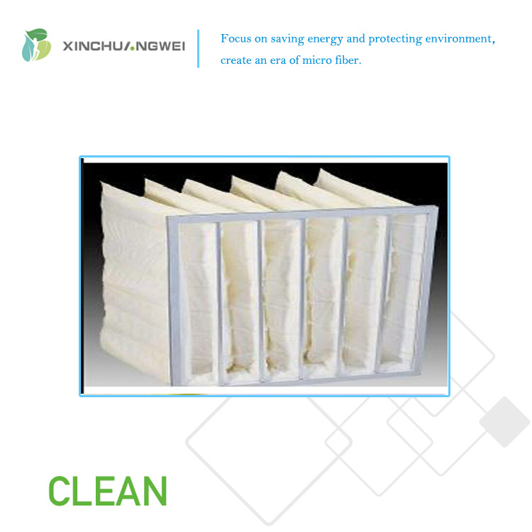 Glass Microfiber Air-Laid Filter Thermal Resistance Pocket