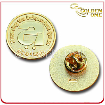 Custom Die Stamped Engraved Gold Plated Lape Pin