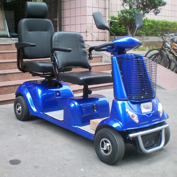 4 Wheel 2 Seats Electric Mobility Scooter for Elderly and Disabled People